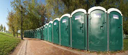 a and a portable toilets