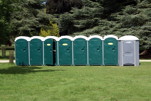 a and a portable toilets|