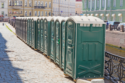 portable toilet for rent price|